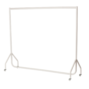 R1 White Clothes Rail - White Garment Rail