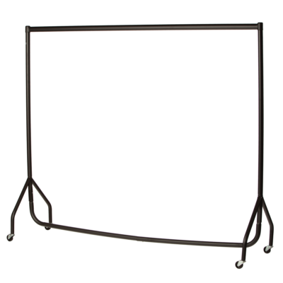 R1 Black Clothes Rail - Black Garment Rail