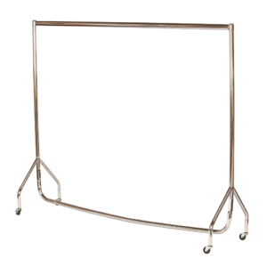 R1 Chrome Clothes Rail - Chrome Garment Rail