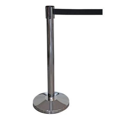 R202 Black Retractable Barrier