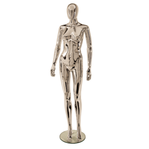 R309 Female Egghead Mannequin Chrome