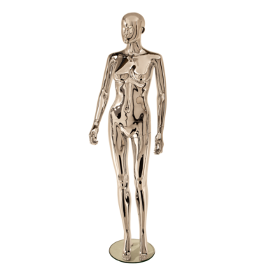 R315 Female Abstract Mannequin Chrome