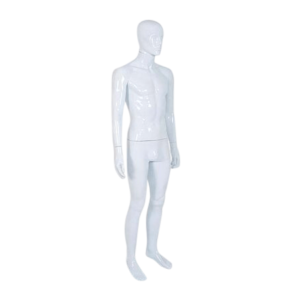 R329 Male Mannequin - Abstract - Gloss White