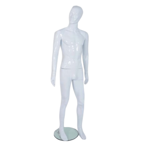 R330 Male Mannequin - Abstract - Gloss White