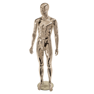 R332 Male Full Body Mannequin - Abstract - Chrome