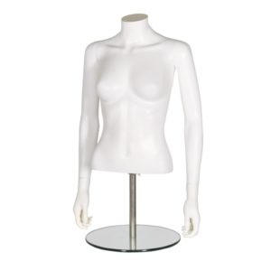 R370 Female Torso With Arms - Matt White