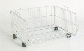 R1624 - Stacking Baskets with Wheels - 600mm x 540mm 1