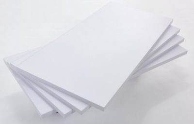 "R555A - Melamine Faced Timber Boards - White Finish - 600mm x 300mm / 24"" x 12"" - Pack of 4 1"