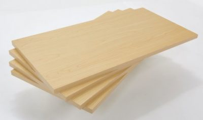 """R556A - Melamine Faced Timber Boards - Maple Finish - 600mm x 300mm / 24"""" x 12"""" - Pack of 4 1"""