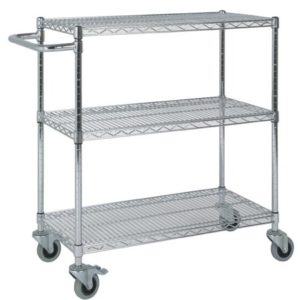 Chrome Wire Shelving Catering Trolley