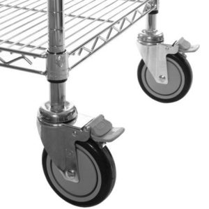 R939 Wheel Set for Chrome Wire Shelving