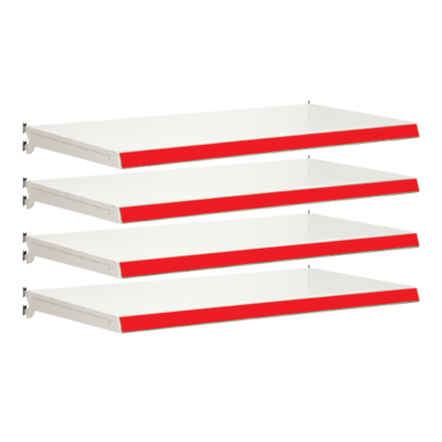 Pack of 4 complete shelves for Evolve S50i - Jura & Red