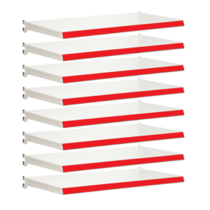 Pack of 8 complete shelves for Evolve S50i - Jura & Red