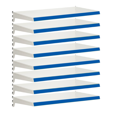 Pack of 8 complete heavy duty shelves for Evolve S50i - Jura & Blue