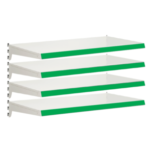 Pack of 4 complete heavy duty shelves for Evolve S50i - Jura & Green