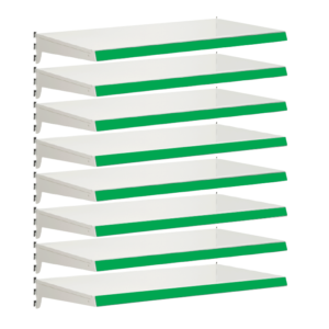 Pack of 8 complete heavy duty shelves for Evolve S50i - Jura & Green