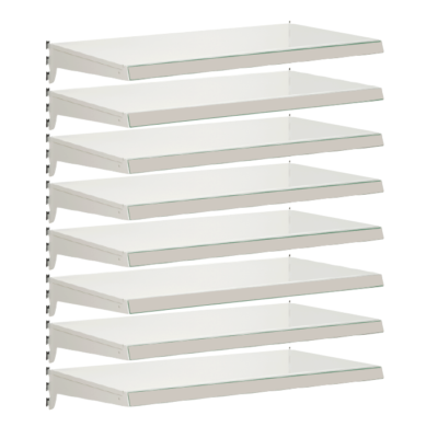 Pack of 8 complete heavy duty shelves for Evolve S50i - Jura