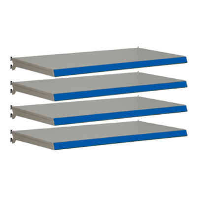 Pack of 4 complete shelves for Evolve S50i - Silver & Blue