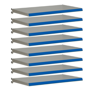 Pack of 8 complete shelves for Evolve S50i - Silver & Blue