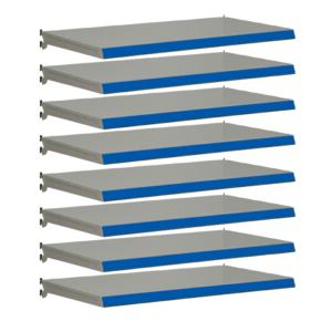 Pack of 8 complete shelves for Evolve S50i - Silver & Blue