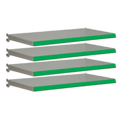 Pack of 4 complete shelves for Evolve S50i - Silver & Green