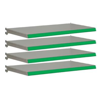 Pack of 4 complete shelves for Evolve S50i - Silver & Green