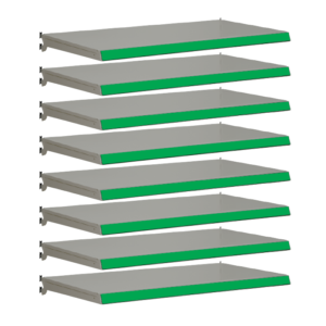 Pack of 8 complete shelves for Evolve S50i - Silver & Green