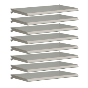 Pack of 8 complete shelves for Evolve S50i - Silver