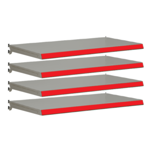 Pack of 4 complete shelves for Evolve S50i - Silver & Red