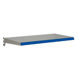 Heavy Duty Shelf bundles to suit Evolve S50i retail shop shelving - Silver & Blue