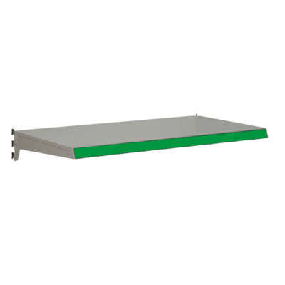 Heavy Duty Shelf bundles to suit Evolve S50i retail shop shelving - Silver & Green