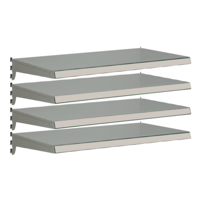 Pack of 4 complete heavy duty shelves for Evolve S50i - Silver