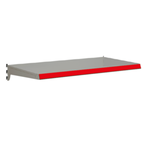Heavy Duty Shelf bundles to suit Evolve S50i retail shop shelving - Silver & Red