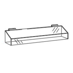 SL1240 and SL1241 Acrylic Slatwall Tray