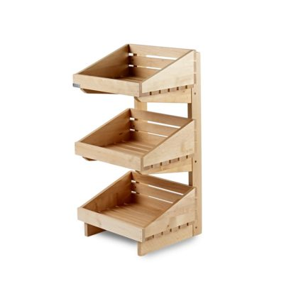 SP102 3 tier counter top wooden display stand