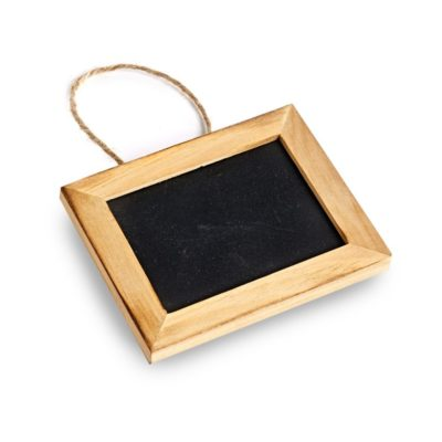 SP150 Pack of 5 small chalkboard with string