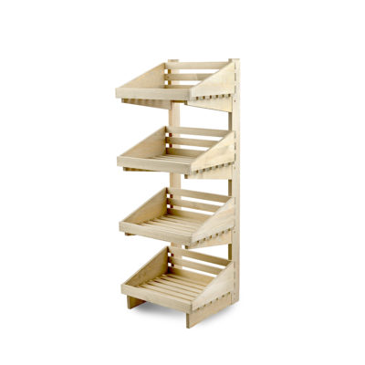SP247 Rustic 4 tier Display Stand