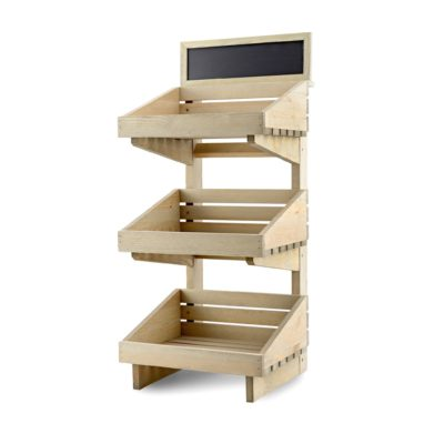 SP252 - 3 tier Counter Top Display Stand - with optional blackboard