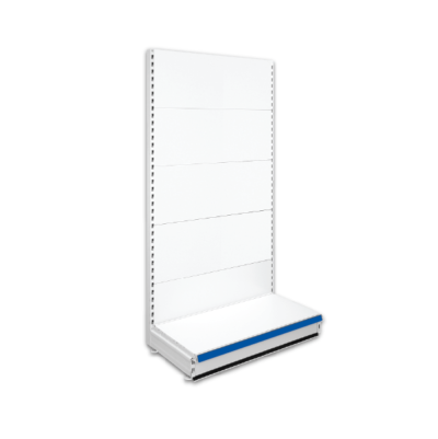 Single Sided Retail Shop Shelving - Jura & Blue