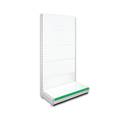 Single Sided Retail Shop Shelving - Jura & Green