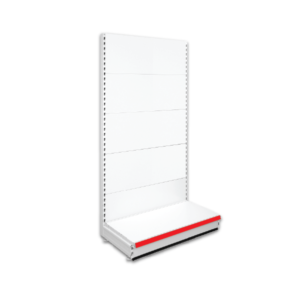 Single Sided Retail Shop Shelving - Jura & Red