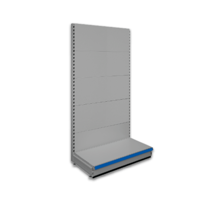 Single sided shop shelving - Silver Grey 9006
