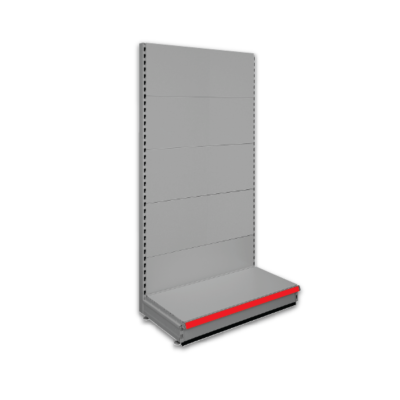 Evolve S50i Retail Shop Shelving - Single Sided Bay - Silver 9006