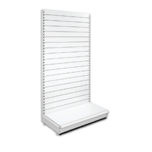 Single Sided Slatted Retail Shop Shelving - Jura & Ivory