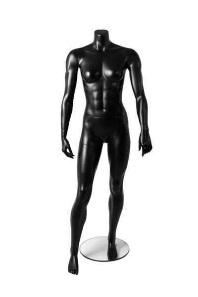 Athletic Female Mannequin-Matt Black 1