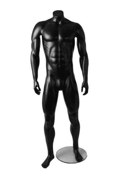 Athletic Male Mannequin-Matt Black 1
