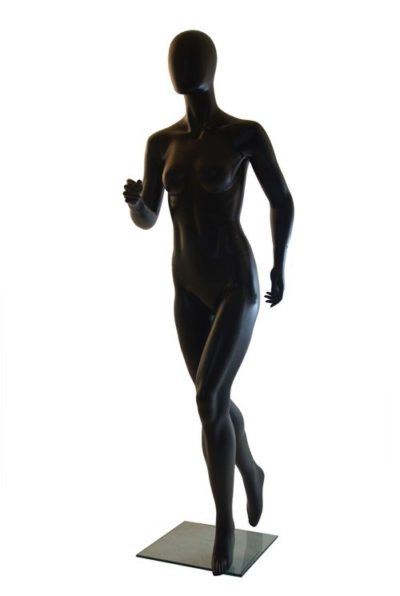 Running Female Mannequin-Matt Black 1
