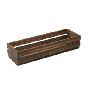 TR220 Medium Dark Wooden Crate
