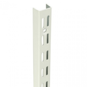 Twin Slot Uprights - White