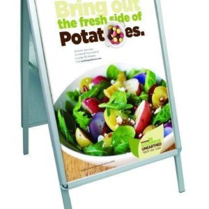 Poster Grip 'A' Board Pavement Sign (Round Corners) A2 Size